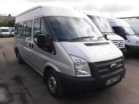 FORD TRANSIT 300 SHR 9 STR MINI BUS, Silver, Manual, Diesel, 2013