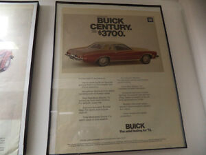 OLD BUICK  CLASSIC CAR FRAMED AD Windsor Region Ontario image 2