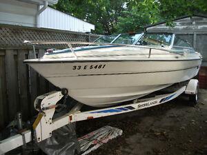 19.5 foot boat, motor & trailer REDUCED London Ontario image 1