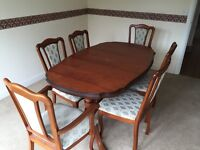 Superior dining table with high quality chairs