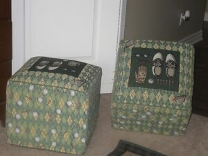 golf design foot stool, rug