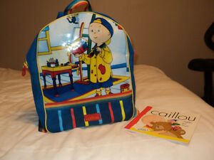 Caillou Pack Sac & Book GREAT DEAL !