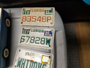 FLORIDA MOTORCYCLE LICENCE PLATES