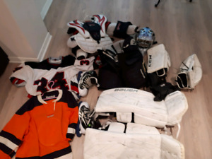 Selling full set goalie equipment