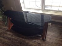 Black Glass 3 Tier Entertainment Stand