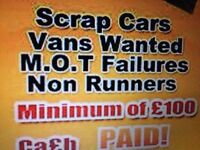 Cars vans wanted for cash call now