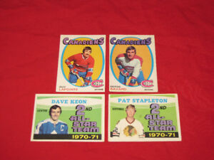 Non-mint hockey cards -- 40 from the 1970s