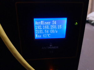 Antminer S4 used (for bicoin)