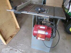 Rockwell/Beaver Table saw with 1 HP motor