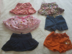 12-18 month skirts and shorts