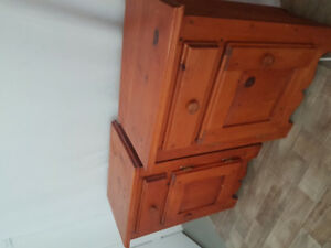 Pine bedside tables or nightstands
