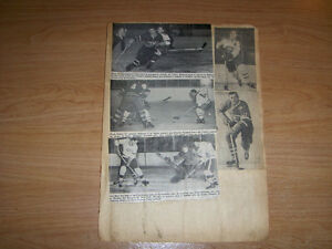 MONTREAL CANADIANS-TORONTO MAPLE LEAFS-1 SCRAPBOOK PAGE-1950S