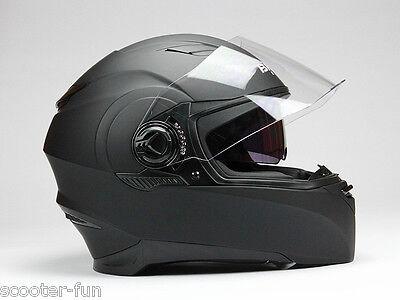 F06, Integralhelm Motorradhelm Rollerhelm mit integr. Sonnenschutz S + M + L+XL
