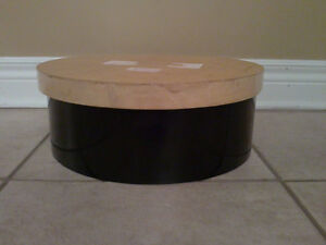 Round wooden storage keepsake box London Ontario image 1
