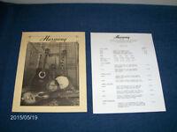 HARMONY GUITARS-2 PAGE PRICE LIST-6/15/1978-STELLA-DREADNOUGHT+