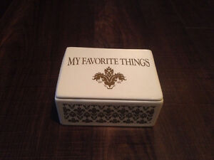 """My favourite things"" jewelry music box"