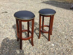 Leather studded bar stools