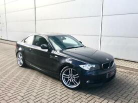 "2009 59 reg BMW 120d M Sport Coupe + Black + LEATHER + 18"" Alloys + Nice Spec"