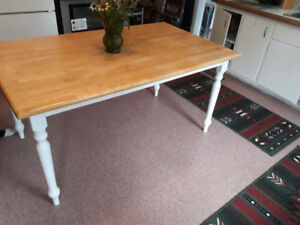 BUTCHERS BLOCK TABLE - $130