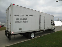 STAY LOCAL - with HUNT FAMILY MOVERS in Barrie