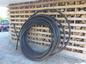 """1.5""""Red line water line and 4""""big O drain pipe"""