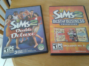 Sims 2 Double Deluxe/Best of Business-6 games