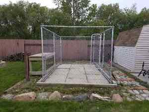 7' by 13' chain link dog run