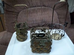 Two Decorative Wine Bottle Holders And Tissue Dispenser Set.