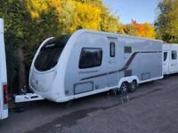 2013 Swift Conqueror 645 4 Berth caravan FIXED ISLAND BED, AWNING Bargain!