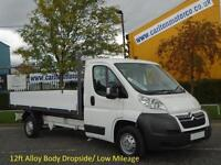 2010/ 60 Citroen Relay 35 L3 Dropside Pickup 12ft Alloy Body Low Mileage