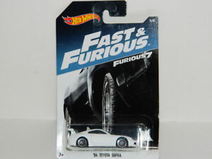 Hot Wheels 1/64 '94 Toyota Supra Diecast Car White F & F 7
