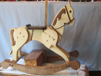 CUSTOM MADE HAND BUILT WOODEN ROCKING HORSES