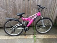 Trax TFS1 full suspension adult mountain bike in new unused