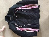 Ladies motorcycle jacket Large