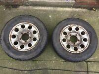 2x vitara wheels and tyres good tread