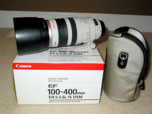 Canon EF 100-400mm f/4.5-5.6L IS USM in box