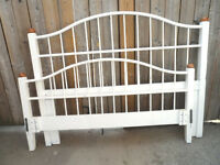 White DOUBLE BED FRAME Headboard & Foot Board ONLY