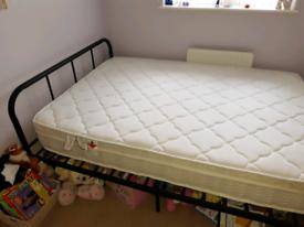 FREE - Double Metal Bed + Mattress Spring/Foam