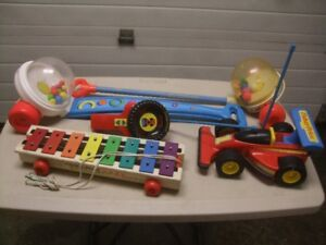 "FOUR VINTAGE  ""FISHER-PRICE"" TOYS"