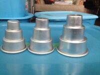 28 -- Three Tiered Wedding Cup Cake Pans -- $30.00
