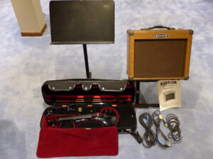 Electric Violin with Amp, Amp Stand and Music Stand