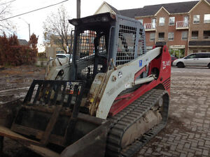 Skid steer with track services $60 hr