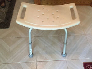 shower/tub stability bench