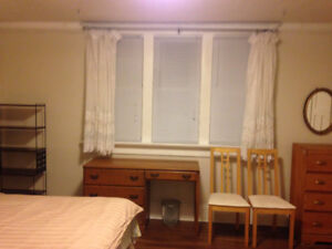 Furnished room ava Oct 1, 280/week, flexible term