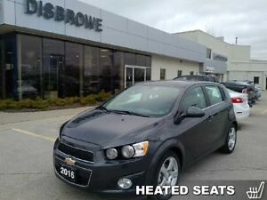 2016 Chevrolet Sonic LT   Low Mileage, Remote Start, Sunroof