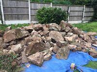 Very large rockery stones