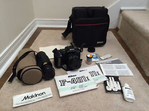 Nikon F-401x SLR Camera Kit- including MacKinon 70-300mm Lens