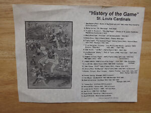 """FS: 1987 History Of The Game """"St. Louis Cardinals"""" Print with Le London Ontario image 2"""