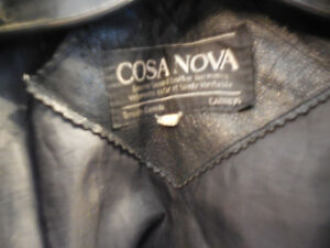Old school black leather jacket @recycledgear.ca Kawartha Lakes Peterborough Area image 2