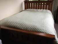 Matching solid wood double bed furniture set